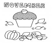 Printable November coloring pages