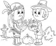 Printable Printable Thanksgiving November kid coloring pages