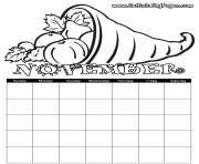 Print November Coloring coloring pages