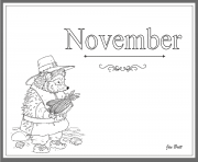 Print Coloring Months of the Year November coloring pages