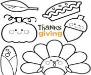 Printable Cute Thanksgiving sheets coloring pages