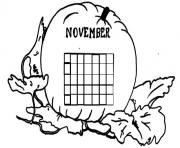 Print November Calendar 2 coloring pages