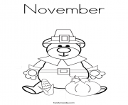 Print Thankful November coloring pages