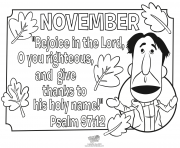 Print the Bible Psalms november coloring pages