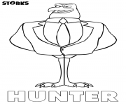 Printable Storks Hunter movie coloring pages