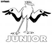 Printable Storks junior coloring pages