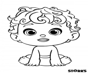 The Baby from Storks Movie coloring pages