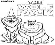 The Wolf Pack from Movie Storks coloring pages