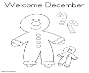 Print welcome december 2 coloring pages
