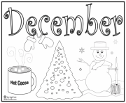 december hot chocolat coloring pages