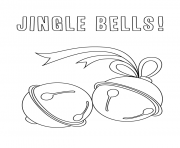 Print December Holiday jingle bells coloring pages