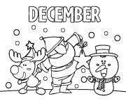Print december with friends coloring pages