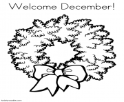 Print welcome december coloring pages