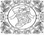 Printable Christmas adults 2 coloring pages