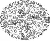 Christmas adults mandala coloring pages