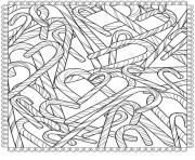 Printable candy canes christmas adult coloring pages