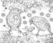 Printable christmas design adult coloring pages