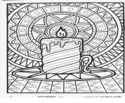 Printable Christmas adults candle coloring pages