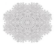 Printable mandala christmas adult wreath coloring pages