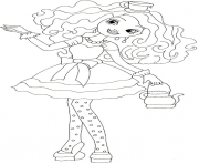 Print Madeline Hatter ever after high coloring pages