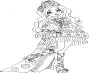Print Spring Unsprung Briar Beauty ever after high coloring pages
