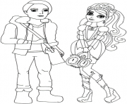 ashlynn ella and hunter huntsman ever after high coloring pages