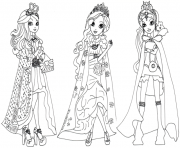 Printable ever after high legacy day coloring pages