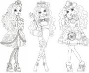 Print Apple White Briar Beauty Blondie Locks Ever After High (1) coloring pages