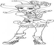 Print Courtly Jester ever after high coloring pages