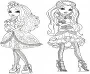 Printable apple white and raven queen  coloring pages