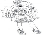 Printable Spring Unsprung lizzie hearts ever after high coloring pages