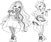 Printable Holly and Poppy O Hair Ever After High coloring pages