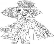 Printable Madeline Hatter Way Too Wonderland Ever After High coloring pages