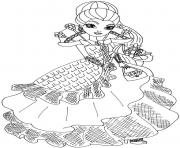 Print Raven Queen throne coming ever after high coloring pages