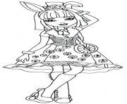 Printable Bunny Blanc Ever After High coloring pages