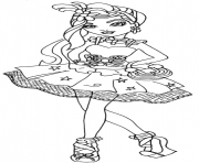 Print Duchess Swan Ever After High coloring pages