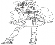 ever after high lizzie hearts coloring pages - ever after high coloring pages color online free printable