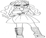 Printable Rosabella Beauty Ever After High coloring pages