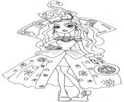 Print Lizzie Hearts Way Too Wonderland Ever After High coloring pages