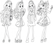 Printable getting fairest ever after high coloring pages