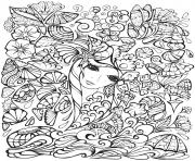 Creative Haven Fanciful Faces Adults 1 coloring pages