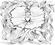 Printable Creative Haven Fanciful Faces Adults 3 coloring pages