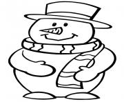Printable preschool s winter snowman 2825 coloring pages