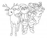 Printable santsas reindeer sde51 coloring pages