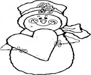 Printable heart and snowman s to print a1c1 coloring pages