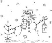 Print snowman s free1bc23 coloring pages