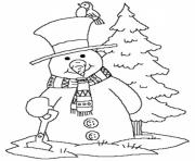 Printable snowman winter s free369d coloring pages