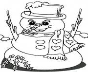 Printable big smile from snowman sc410 coloring pages