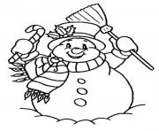 Printable free snowman s for kids f978 coloring pages