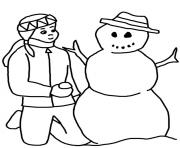 Printable winter s snowman c65c coloring pages